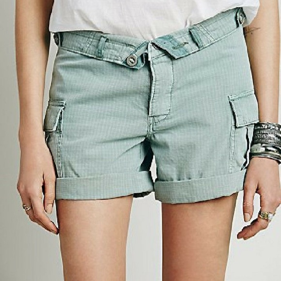 Free people fold-over cotton cargo shorts 27